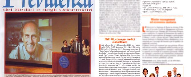 articolo giornale previdenza PNEI